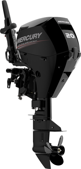 Mercury Portable FourStroke Revolution The all new 15/20hp EFI FourStroke outboard  …and world's first ambidextrous portable outboard tiller handle