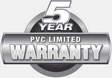 5 años de garantía PVC