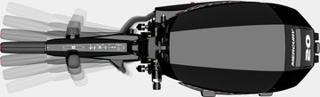 Mercury Marine introduces all-new 20hp EFI FourStroke outboard & the world's first portable outboard tiller handle with ambidextrous control